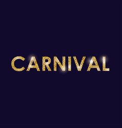 Carnival festival letters design vector