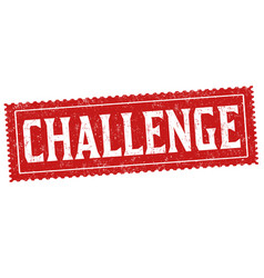 challenge sign or stamp vector image
