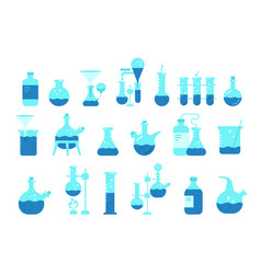 chemistry science icon set education lab the vector image