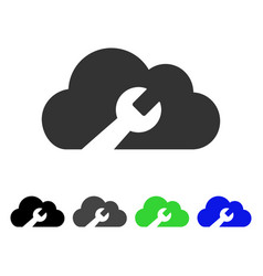 Cloud wrench tools flat icon vector