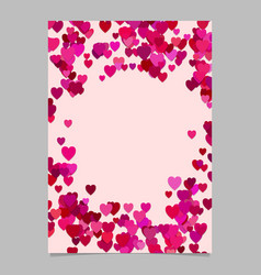 color abstract random heart brochure template vector image