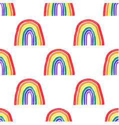 Colorful simple seamless pattern symbol pride vector