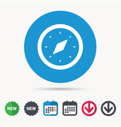 Compass icon navigation device sign vector