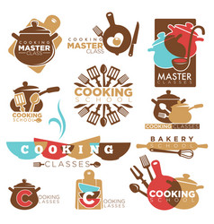 cooking school master class bakery chef vector image vector image