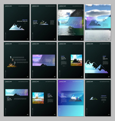 Creative brochure templates covers design vector