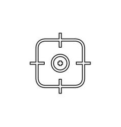Crosshairs icon - target aim vector