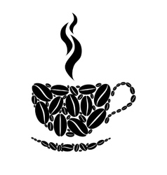Cup of coffee Black and white concept vector image