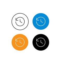 Design icon history vector