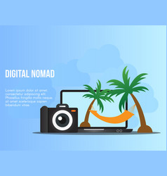 Digital nomad concept design template vector