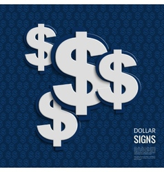 dollar signs on blue background vector image