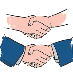 Drawing Handshake Successful business vector