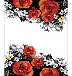 drawn rose vector image