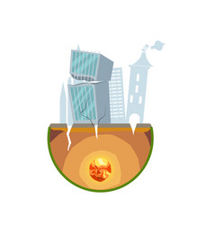 earthquake damage isolated icon vector image