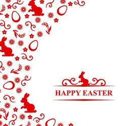 Easter hare flower vector