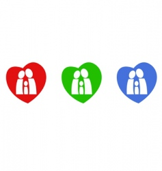 Family hearts vector