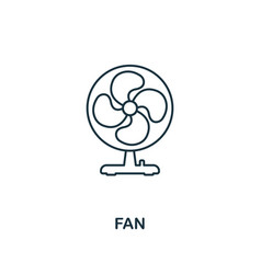 Fan icon thin style design from household icons vector
