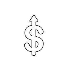 flat design style concept of dollar symbol icon vector image