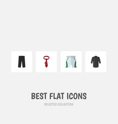 flat icon clothes set of trunks cloth pants vector image