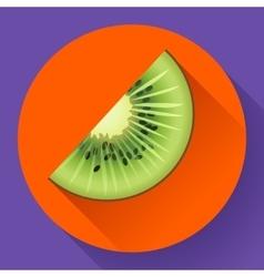 Fruit kiwi icon flat style vector image