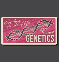 Genetics education faculty dna genome vector