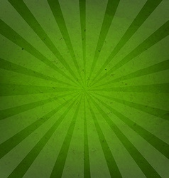 Green grunge background texture with sunburst vector