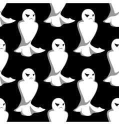 Halloween night ghosts seamless pattern vector