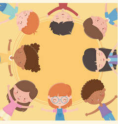 happy children day group kids together vector image