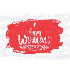 Happy international women s day on march 8th vector