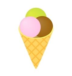 Ice cream isometric 3d icon vector image