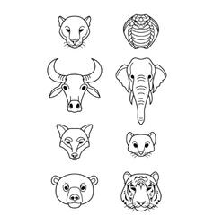 Indian flat animals vector image
