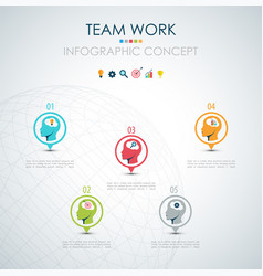 Info graphic teamwork business concept vector