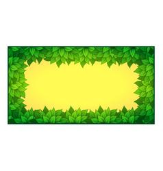 inner rectangle leaves frame vector image