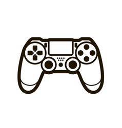 joystick symbol or icon video game concept vector image