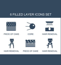 Layer icons vector