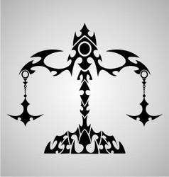 Libra Sign Tribal vector image