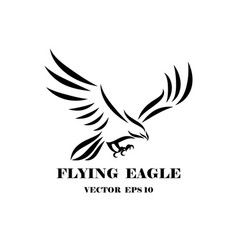 logo eagle that is flying eps 10 vector image