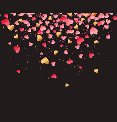 Love valentine day background with red hearts vector