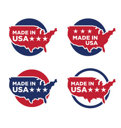 made in america label set 07 vector image