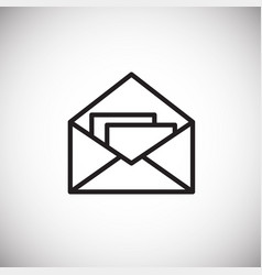 mail envelope on white background vector image