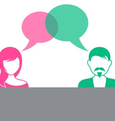 Man and woman dialog vector image