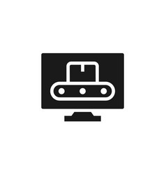mass production computer icon - simple element vector image