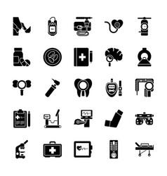 medical checkup glyph icons vector image