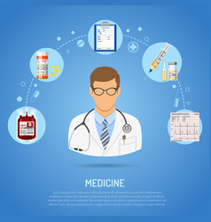medical concept with doctor vector image