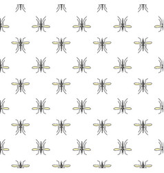 mosquito seamless pattern for textile design vector image