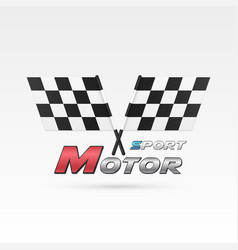 motor sport emblem vector image