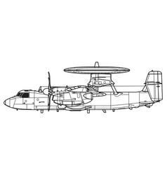 Northrop grumman e-2d advanced hawkeye vector