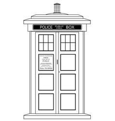 Old fashioned british police box vector