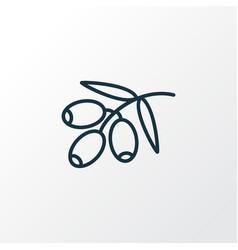 Olive branch icon line symbol premium quality vector