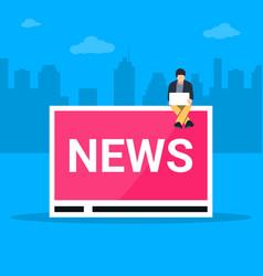 online breaking news concept vector image
