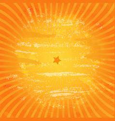 Orange retro vintage grunge background vector